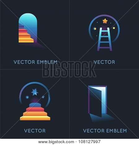 Vector Set Of Abstract Concepts And Logo Design Elements