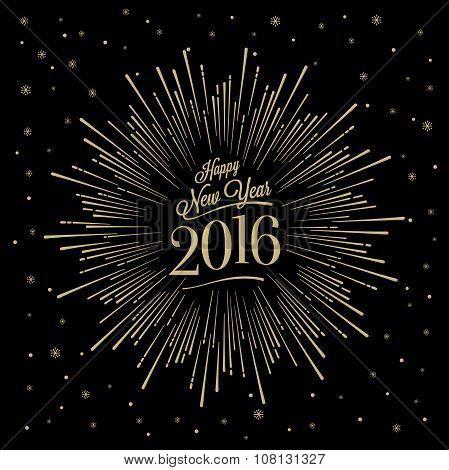 Happy New Year Starburst