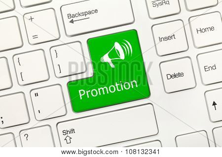 White Conceptual Keyboard - Promotion (green Key)