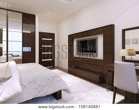 Bedroom Interior High-tech Style