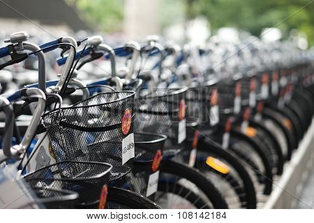 Organized parking bicycles