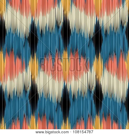 Seamless Ikat Pattern.