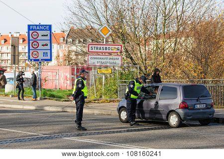 France Paris Attacks - Border Surveillance With Germany