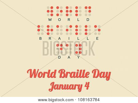 Poster For World Braille Day (january 4)