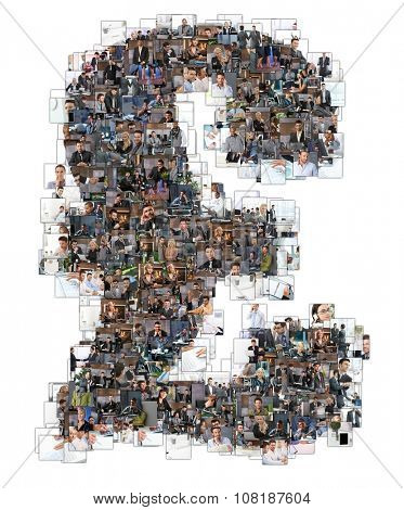 Letter Z photomosaic made of business photos of people. All the other letters of the ABC can be found in my protfolio - use the keyword photomosaic!only 10 models were used who's MRs are all attached. poster
