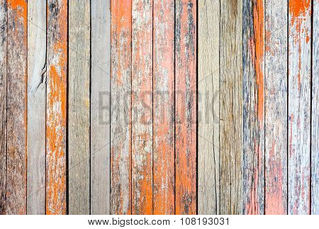 Rustic Woodden Board With Knots And Nail Holes, Vintage  Background