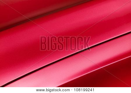 Red car bodywork