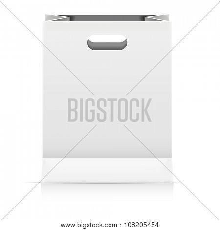 detailed illustration of a paperbag packaging template, eps10 vector