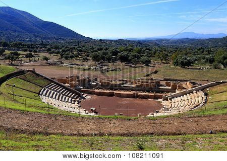 The Ancient theater of Messini, Messinia, Greece