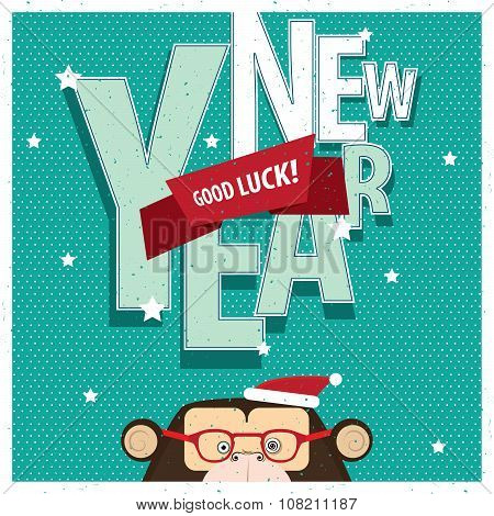 Good Luck New Year With Monkey