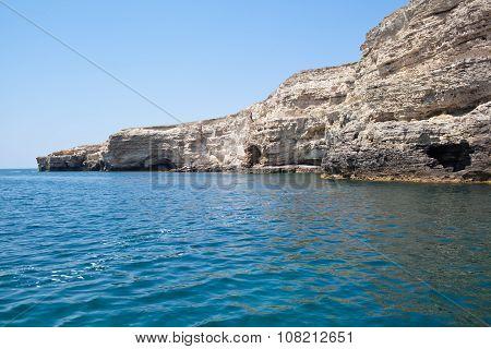 Sea Caves In Tarhankut, Crimea