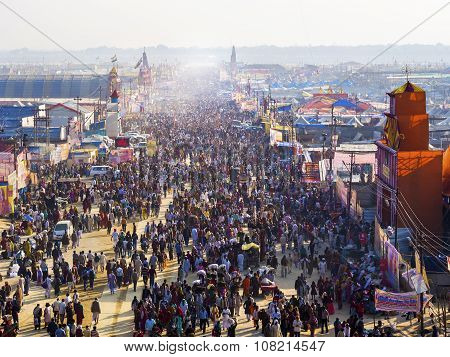 Crowd At Kumbh Mela Festival In Allahabad, India