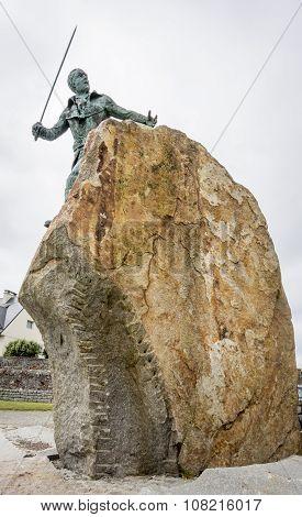 Statue Of Georges Rene Le Peley De Pleville, Granville, Normandy, France