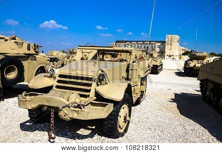 M3 Half-track Carrier On Display At Yad La-shiryon Armored Corps Museum At Latrun . Israel