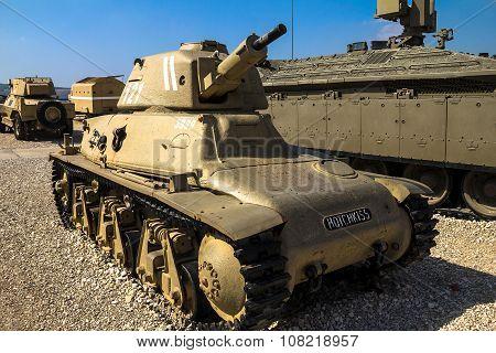 French Made Hotchkiss H-39 Light Tank.   Latrun, Israel