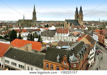 Panoramic view of Speyer, Rheinland-Pfalz, Germany
