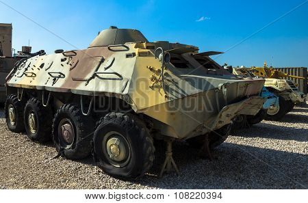 Soviet Made Amphibious Btr- 60 Armored Personnel Carrier . Latrun, Israel