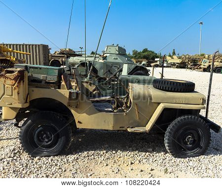 Willys Mb , U.s. Army Truck, 1/4 Ton, 4X4 Or Ford Gpw. Latrun, Israel