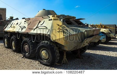 Soviet Made Amphibious Btr- 60 Armored Personnel Carrier. Latrun, Israel