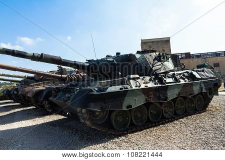 Russian Made Tanks Was  Captured By Idf On Display At Yad La-shiryon Armored Corps Museum At Latrun.