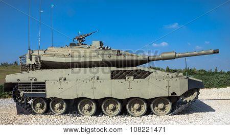 Israel Made Main Battle Tank Merkava  Mk Iv . Latrun, Israel