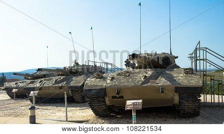 Israel Made Main Battle Tanks Merkava  Mk I, Mk Ii, Mk Iii . Latrun, Israel