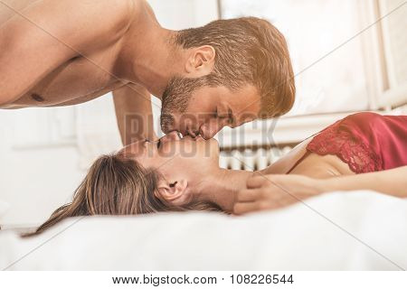 Lovers In Bed