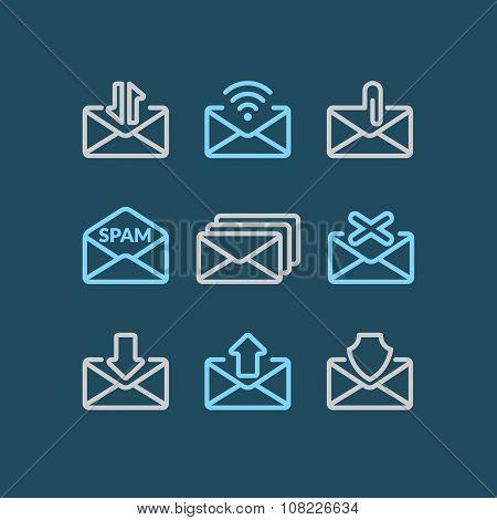 Set E-mail Icons.