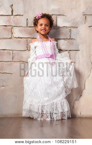 Beautiful African  Girl As A Little Actress. Theatre, Acting Skills