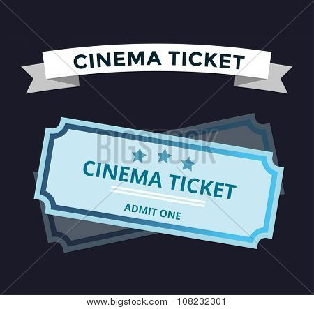 Cinema vector tickets on background. Cinema tickets vector symbol. Vector tickets isolated. Tickets movie, cinema tickets, show tickets vector illustration