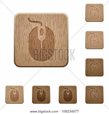 Computer mouse wooden buttons