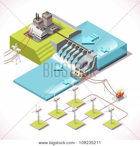 Energy 15 Infographic Isometric