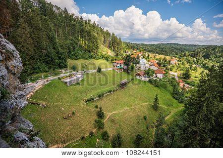 Landscape View From Predjama Castle Window