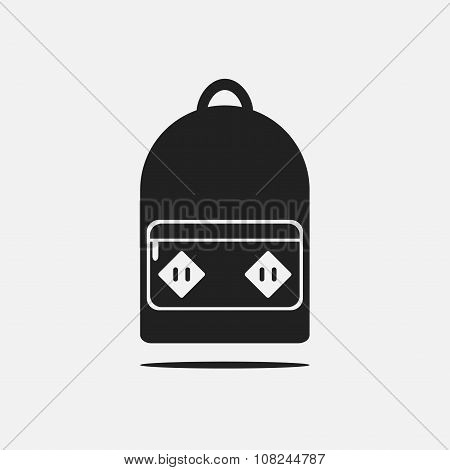 Backpack. Backpack icon. Isolated backpack icon on background.