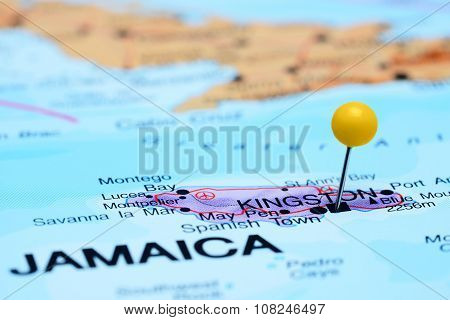 Kingston pinned on a map of America