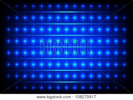 Abstract Circle Blue Lights Vector Background