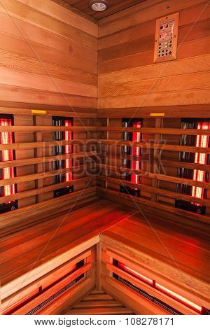 Wooden Sauna Interior
