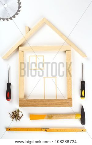 House Made Out Of Tools