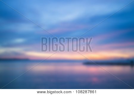 Sunset Abstract Blur Background