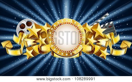 Golden Marquee Banner