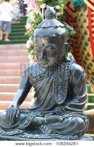 Buddha Statue Closeup