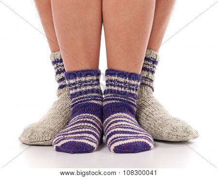 Socks On Humans Legs