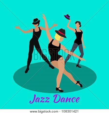 Jazz Dance Concept Flat Design