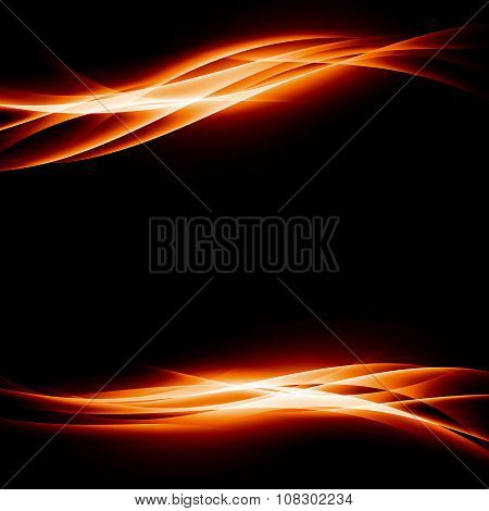 Orange Energy Bright Abstract Background