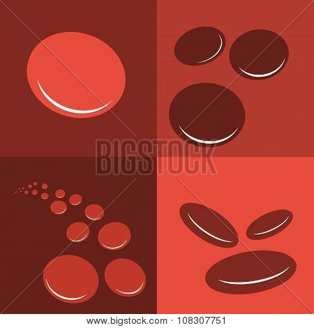 Group Erythrocytes Corpuscles Icon.