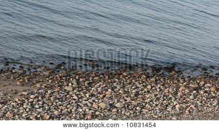 stones on a beach  In Denmark