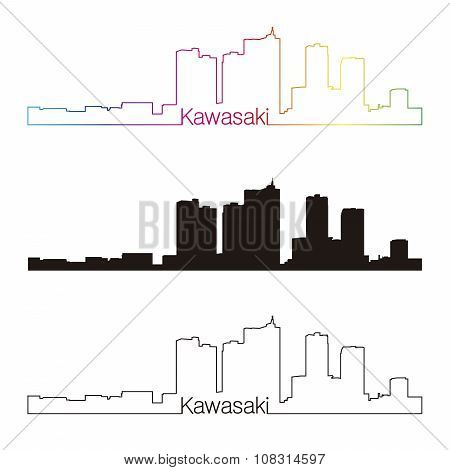 Kawasaki Skyline Linear Style With Rainbow