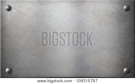 steel metal plate with rivets