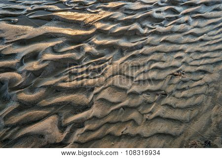 river sandbar texture and pattern - South Platte RIver in eastern Colorado