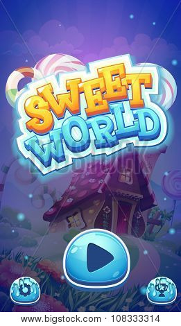 Sweet World Mobile Gui Boot Loading Screen For Video Web Games